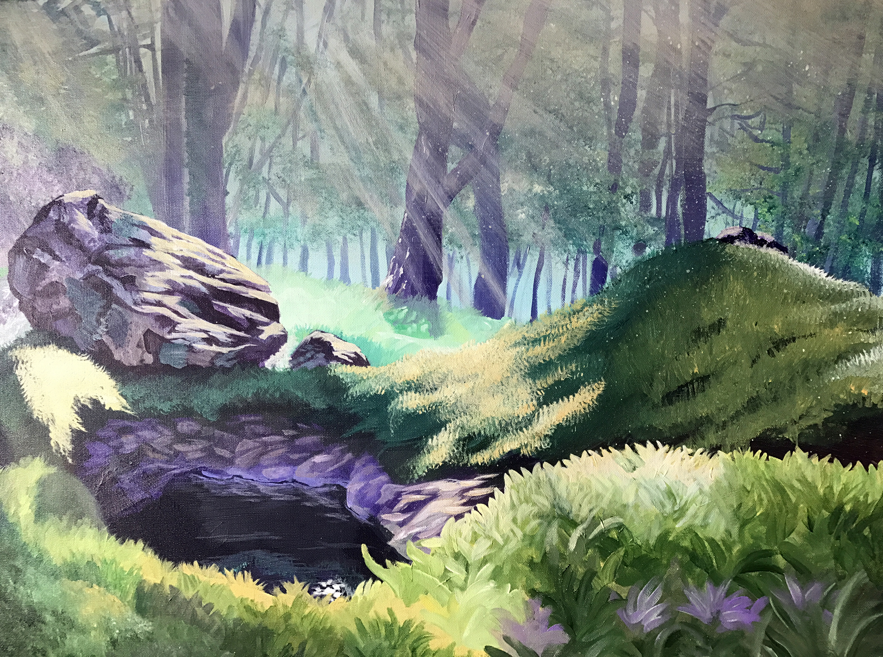Painting of Mystical Meadow by Marc Lewis