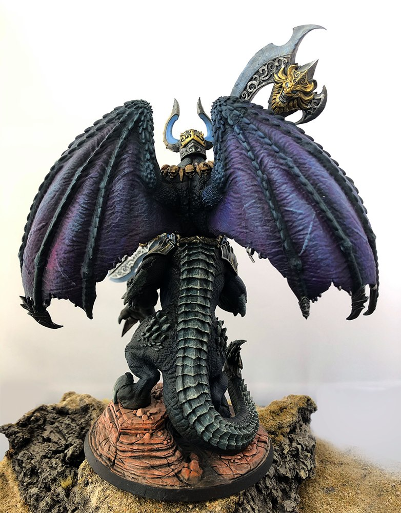Back view of Dracon by Creature Caster painted by me